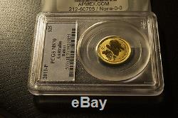 2011-P Australia Lunar Rabbit $25 Dollar Gold 1/4oz Coin PCGS MS70