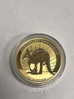 2011 P Australian Gold Kangaroo 1 Ounce. 9999 Fine Bullion