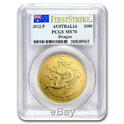 2012 1 oz Gold Year of the Dragon MS-70 PCGS (SII, First Strike) SKU#65111