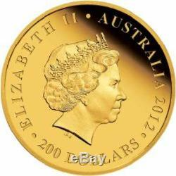 2012 AUSTRALIAN OLYMPIC TEAM 2oz GOLD PROOF COIN LIMITED MINTAGE OF 30 EX RARE