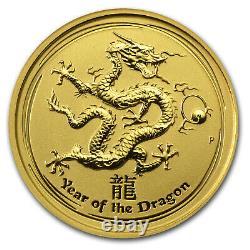 2012 Australia 1/10 oz Gold Lunar Dragon BU (Series II) SKU #63860
