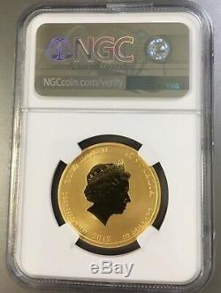 2012 Australia 1/2 oz Gold Lunar Year of the Dragon MS-70 NGC Series II