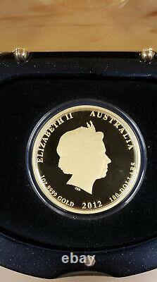 2012 Australia 1 Oz Gold Lunar Dragon Proof Coin (Series II)