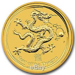 2012 Australia 1 kilo Gold Lunar Dragon BU (Series II) SKU#63854