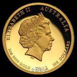 2012 Australia 1 oz Gold Lunar Dragon Proof (UHR) SKU #73345