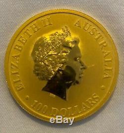 2012 Australian Kangaroo Elizabeth II 1 oz Gold Coin $100.9999