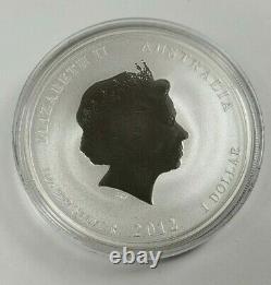 2012 Australian Lunar Silver Coin Series II Year of the Dragon 1 oz Gilded Edit