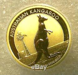 2012 Australian Lunar Year of KANGAROO $25 Gold Coin 1/4 oz Australia
