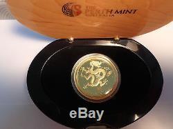 2012 Australian Lunar series Gold 1 oz Dragon Proof Coin