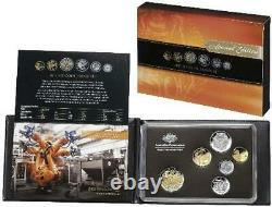 2012 Australian Proof Set with Selectively Gold Plated. 50¢ Coin