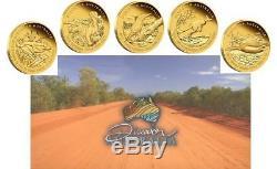 2012 Discover Australia Wildlife Five 1/10 oz Proof Gold Coins Set RARE