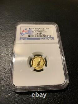 2012 Gold Ngc Ms70 Coin 1/10 Oz Australia Kangaroo Ms 70 Australian Perth Mint