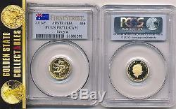 2012 P $15 Proof Gold Lunar Dragon Pcgs Pr70dcam First Strike 1/10oz Rare! Pop45