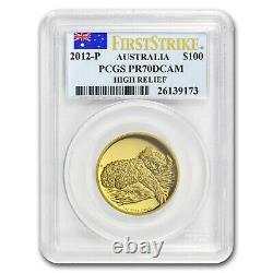 2012-P Australia 1 oz Gold Koala PR-70 PCGS (FS, High Relief) SKU#175438