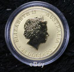 2012-P Australia Kangaroo $25 1/4 Oz. Gold Coin