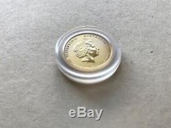2012 Perth Mint Bullion Lunar Year Of The Dragon 1/20 Oz Gold Coin 5 Dollars