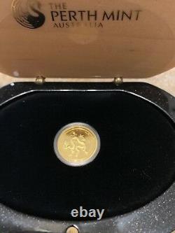 2012 Perth Mint Proof Gold Coin Lunar Dragon 1/10 Oz Box COA 3111/5000