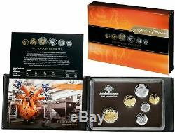 2012 Royal Australian Mint Six Coin Proof Set with Gold Plated 50c