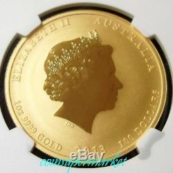 2013P Australia Lunar Year Of Snake 1oz Gold Coin NGC MS 70 Early Releases