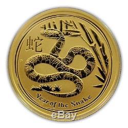 2013 1/2 oz Gold Australian Lunar Year of the Snake Coin