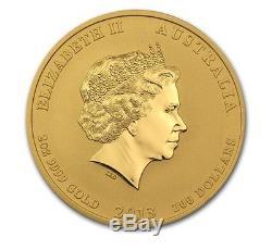 2013 2 oz Gold Australian Perth Mint Lunar Year of the Snake Coin BU