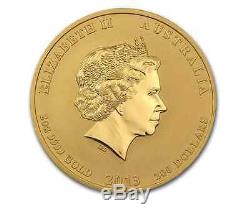 2013 2 oz Gold Australian Perth Mint Lunar Year of the Snake Coin BU Series II