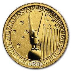 2013 Australia 1/10 oz Gold Australian-American Memorial BU SKU#176635