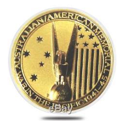 2013 Australia 1/10 oz War in the Pacific Memorial Gold Coin BU in capsule