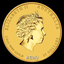 2013 Australia 1/4 oz Gold Lunar Snake BU (Series II) SKU #71323