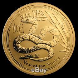 2013 Australia 1 oz Gold Lunar Snake BU (Series II) SKU #71321