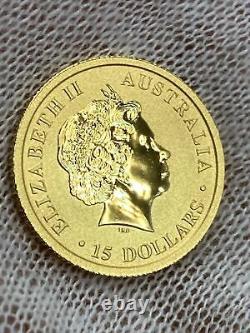 2013 Australian Kangaroo $15 1/10 Oz Gold Coin
