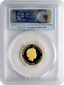 2013-P $25 Australia Year of the Snake Gold Proof PCGS PR69DCAM First Strike