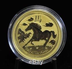 2014 1/2 oz. 9999 Fine Gold Lunar Year of the Horse Australian Coin 08DUD