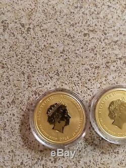 2014 1/4 oz Gold Australian Perth Mint Lunar Year of the Horse Coin