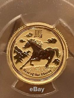 2014 Australia 1/10 Oz Gold $15 Year Of The Horse PCGS MS69 34447031