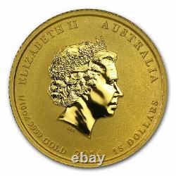 2014 Australia 1/10 oz Gold Lunar Horse BU (Series II) Coin in Capsule