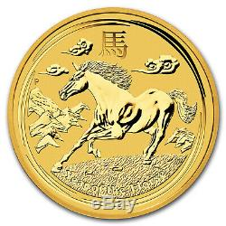2014 Australia 1 kilo Gold Lunar Horse BU (SII) SKU#78075