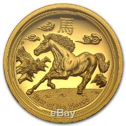 2014 Australia 1 oz Gold Horse PR-70 PCGS (Ultra High Relief) SKU #79905