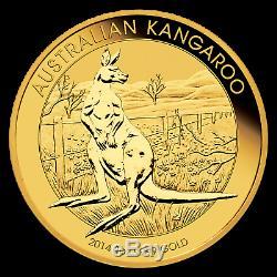 2014 Australia 1 oz Gold Kangaroo BU SKU #78070