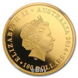 2014 Australia 1 oz Gold Kangaroo PF-70 NGC (FR, 25th Anniv) SKU#175741