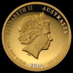 2014 Australia 1 oz Gold Lunar Horse Prf (SII, UHR, Box & COA) SKU #79902