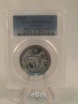 2014 Australian Lunar Year of the Horse Gold/Silver High Relief Set PCGS PR70