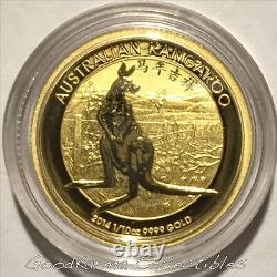 2014 Kangaroo Chinese Privy 1/10oz Gold Coin Perth Australia $15-Only 3,591