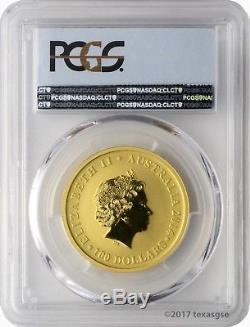 2014-P $100 Australia Kangaroo 25th Ann. 1oz. Gold Coin PCGS MS70 First Strike
