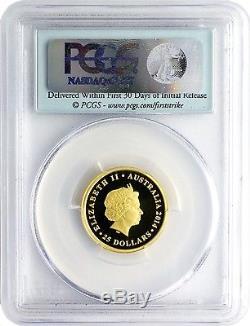 2014-P $25 Australia Perth Mint Sovereign PCGS PR70DCAM First Strike