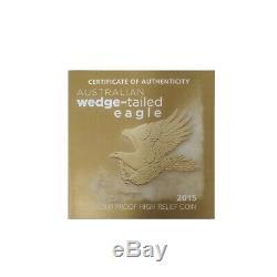 2015 1 oz Gold Australian Wedge-Tailed Eagle Perth PCGS PF 70 John M. Mercanti