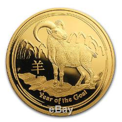 2015 1 oz Proof Gold Australian Lunar Year of the Goat Coin- Box and Certificate