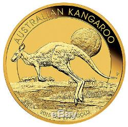 2015 1oz Australian Gold Kangaroo Coin. 9999 Fine BU