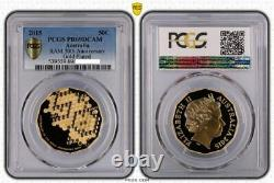2015 50th Anniversary Gold Plated 50c Proof Coin PCGS PR69DCAM