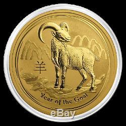 2015 Australia 1 oz Gold Lunar Goat BU SKU #84401